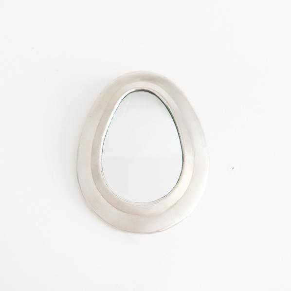 Handgemaakt Marokkaans Shaka spiegeltje, zilver