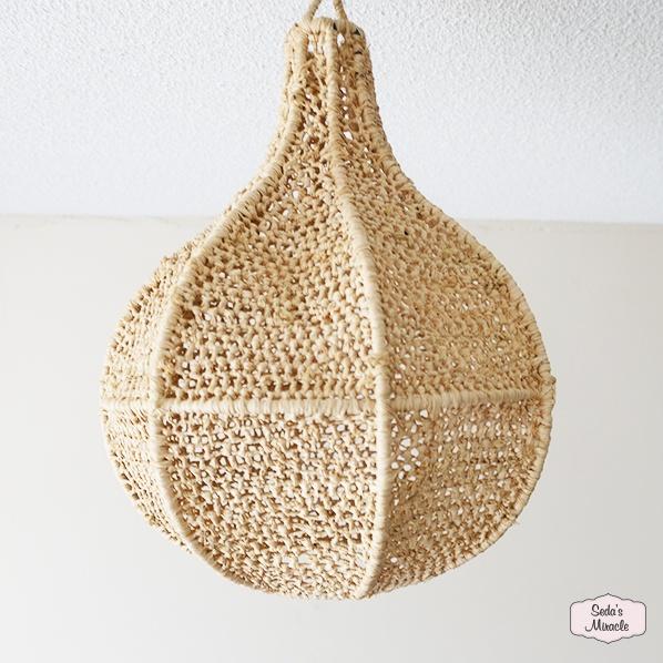 Handgemaakte Marokkaanse Thumy raffia hanglamp