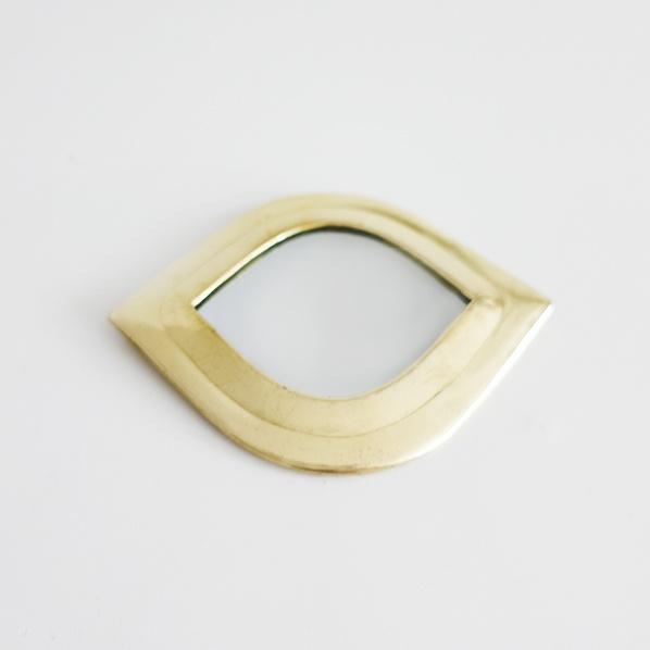 Handgemaakt Marokkaans Eye spiegeltje, goud