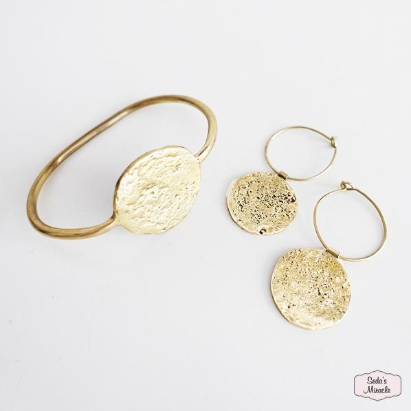 Handgemaakte Marokkaanse Zahra oorbellen en Zaizy armband