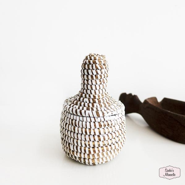 Handgemaakt Afrikaans bijoux mandje, xsmall