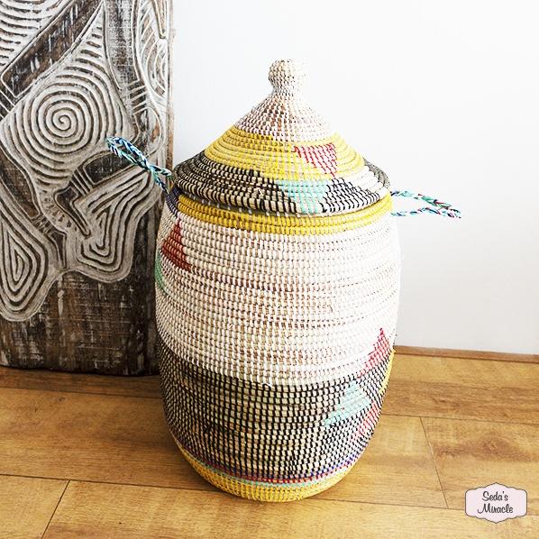 Handgemaakte Afrikaans Afra wasmand, medium