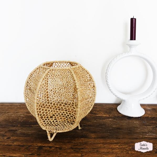 Handgemaakte Marokkaanse Faysa lamp, raffia